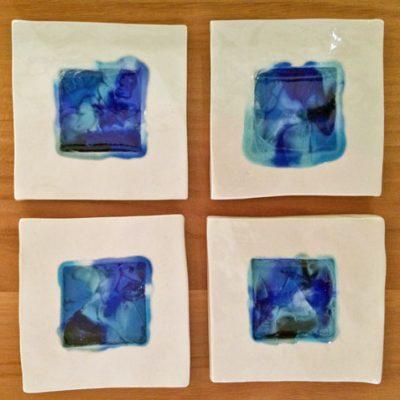 ceramic and glass coasters