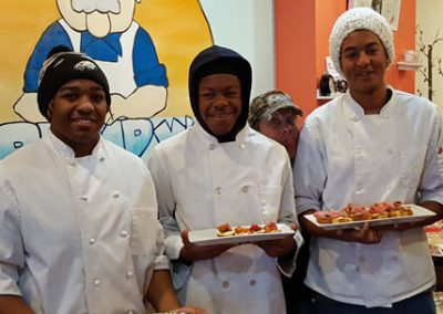 Student chefs at Grumpy's
