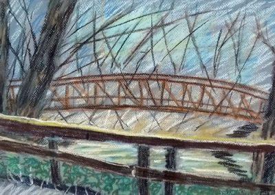 Bridge at Riverfront Park by Sue Ploppert
