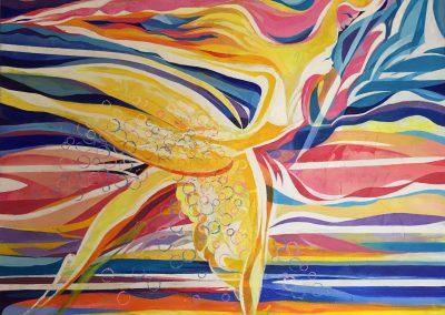 25.) Ballet - Tango 2012, acrylic on canvas 48X40 inches_ Felix Osiemi